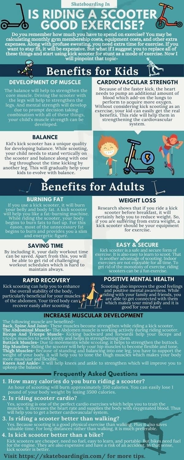 health benefits of riding a scooter